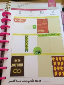 fall themed stickers used in planner