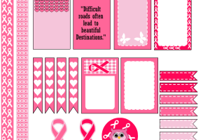 Free Printable Breast Cancer Awareness Stickers