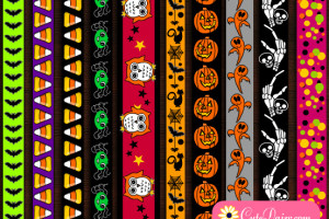 Free Printable Halloween Washi Tapes