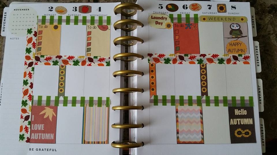 free printable fall themed stickers in happy planner