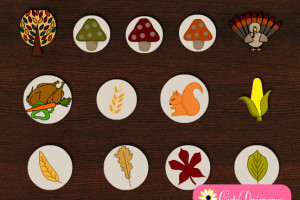 Free Printable Thanksgiving Decorative Stickers