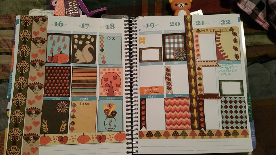 mixed and match stickers used in planner