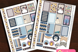 Free Printable Winter Stickers for Erin Condren and Happy Planner