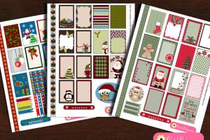 Free Printable Christmas Sticker Sampler Kit for Erin Condren and Happy Planner