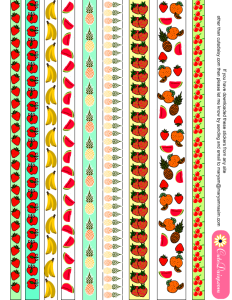 Apples, strawberries, pineapples, bananas, watermelon fruit washi tapes