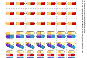 Free Printable Capsule Shaped Medicine Tracking Stickers