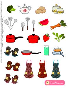 Stickers for The Happy Planner Recipe Organizer