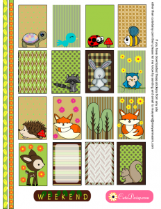 Woodland animals Planner Stickers for Happy Planner
