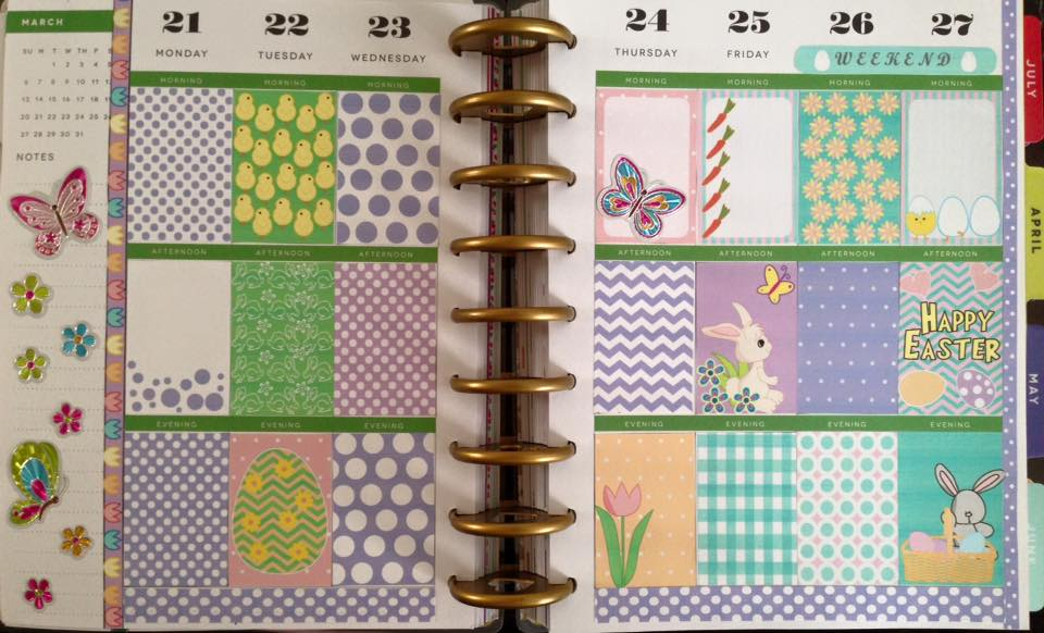 Easter Stickers used in Planner
