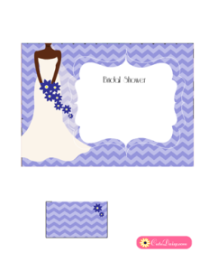 African-American Bridal Shower Invitation in Lilac