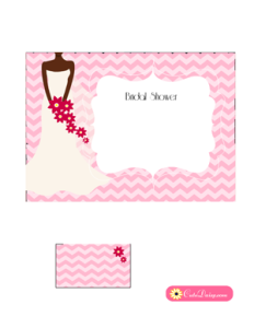 Free Printable African-American Bridal Shower Invitation in Pink