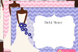 Free Printable African-American Bridal Shower Invitations