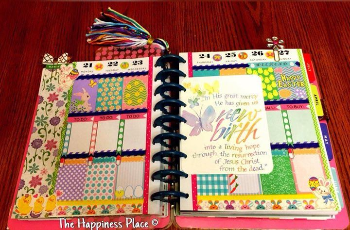 Easter stickers used in Planner layout