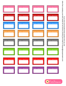 Free Printable Doctor's Appointment Stickers