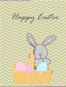 Greeting Card featuring Easter Bunny