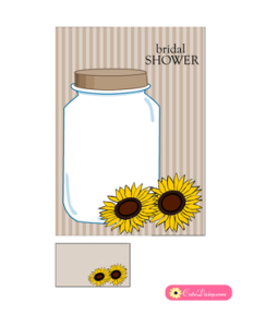 Rustic Bridal Shower Invitation Printable in Brown Color