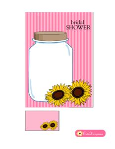 Free Printable Bridal Shower Invitation in Pink Color