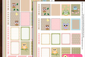 Free Printable Owl Stickers for Planner