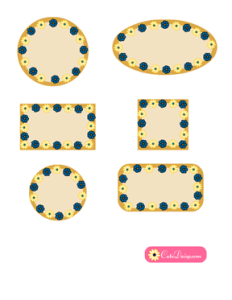 Free Printable Spa Labels with Flowers