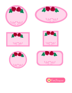 Free Printable Spa Labels in Pink Color