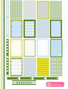 Planner Stickers in Spring Colors