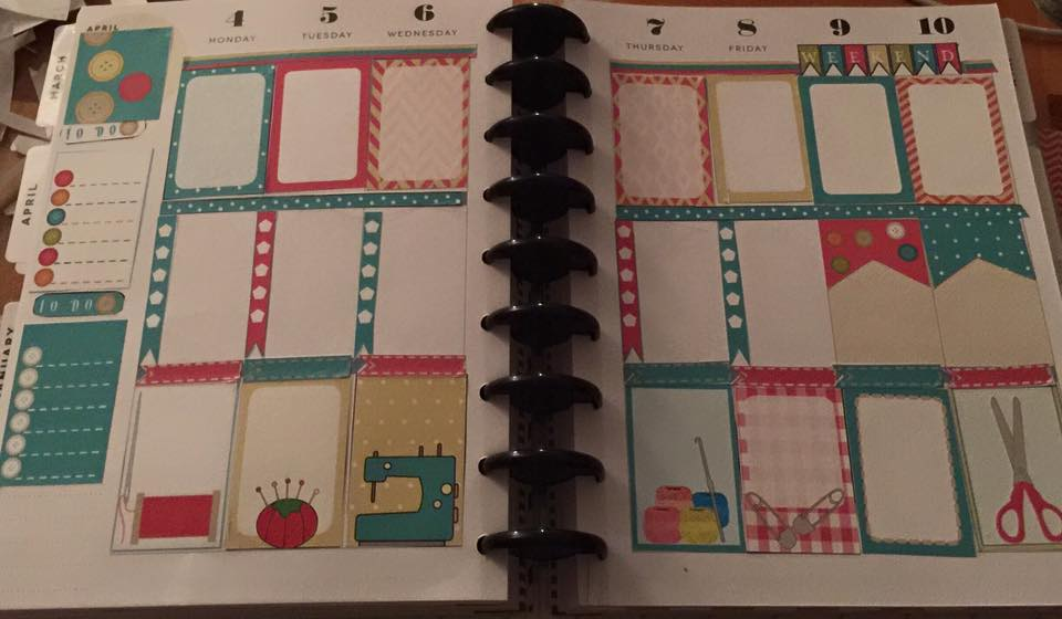 Free Printable Crafts themed Planner Stickers used in Planner
