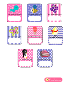 Free Printable Book Labels for Girls