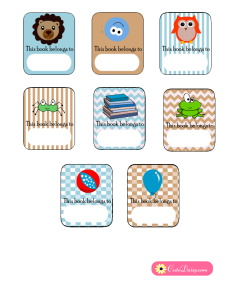 Free Printable Book Labels for Boys