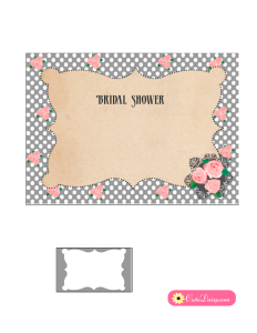 Bridal Shower Invitation in Grey Color