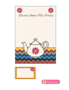 Tea Party Invitation Template in Off-white Color