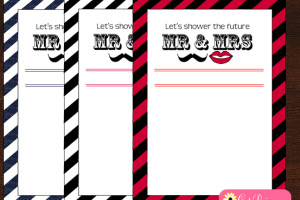 Free Printable Couples Shower Invitations