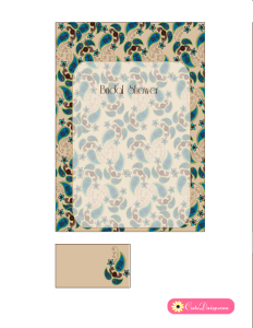 Invitation Template featuring Paisley Design in Blue Color