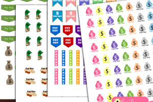 free printable payday stickers for planner