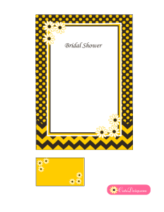 Spring Bridal Shower Invitation in Yellow Color