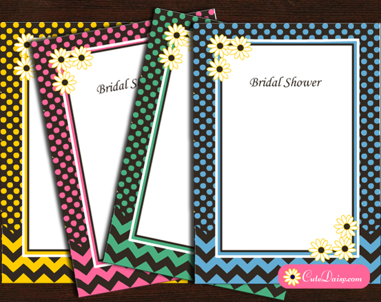 Free Printable Spring Bridal Shower Invitations