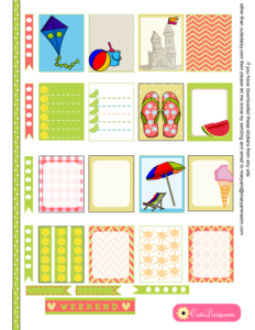Summer and Beach Stickers for ECLP