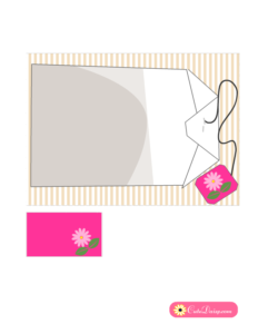 Tea Bag Tea Party Invitation in Pink Color