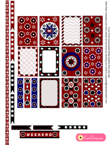 Ajrak Inspired Stickers for Happy Planner Boxes