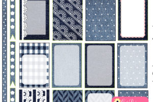 Free Printable Denim and Lace Stickers for Happy Planner