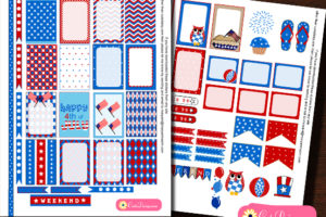 Free Printable 4th of July Planner Stickers