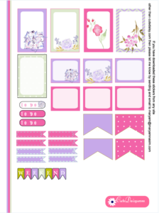 Free Printable Floral Kit for Happy Planner Page 2