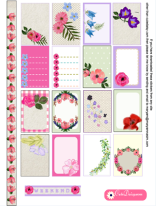 Free Printable Floral Kit for Happy Planner Page 1