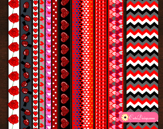 photograph about Free Printable Washi Tape named Cost-free Printables Totally free Printable Valentine Washi Tapes