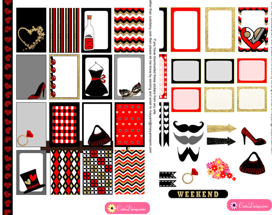 photo relating to Happy Planner Free Printable Stickers titled Totally free Printables No cost Printable Valentine Stickers for Satisfied