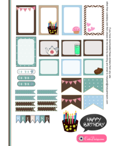 Free Printable Birthday Stickers for Classic Happy Planner page 2