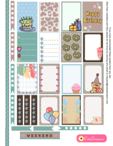 Free Printable Birthday Stickers for Classic Happy Planner page 1