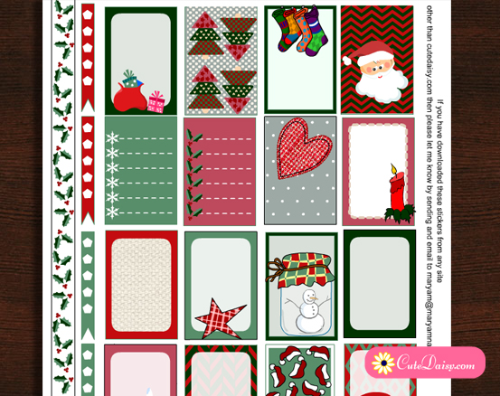 Free Printable Rustic Stickers for Classic Happy Planner