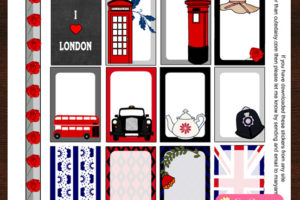 Free Printable London themed Stickers for Happy Planner