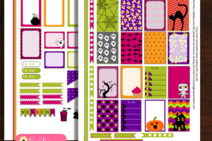 Free Printable Halloween Stickers for Erin Condren and Happy Planner