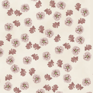Printable Fall Scrapbook Paper with Flowers